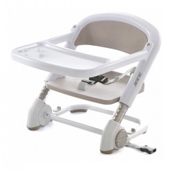 Trona Plegable Booster Blanco/Crema JANE