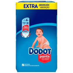 Pañales Dodot Pants Extra T4 (9 a 15 Kg)  58 uds