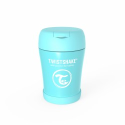 INSULATED FOOD CONTAINER - PASTEL BLUE - 350ML. TWISTSHAKE