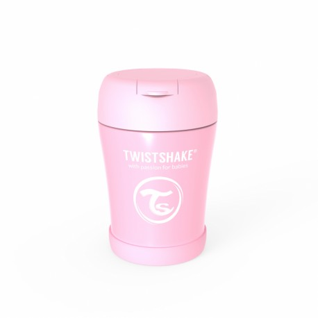 INSULATED FOOD CONTAINER - PASTEL PINK - 350 ML. TWISTSHAKE