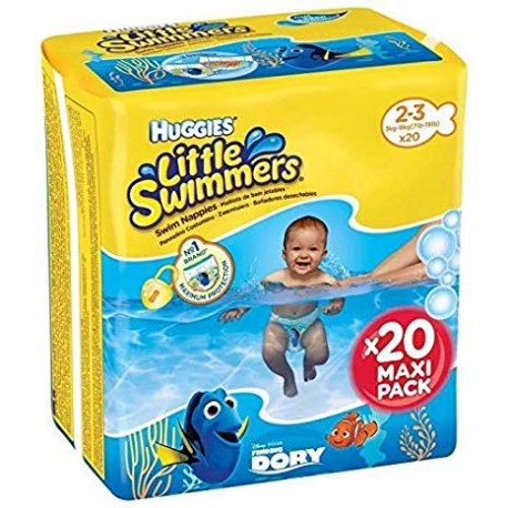 Bañadores desechables  Huggies® Little Swimmers® Talla 2/3 (3-8 kg) 20 Uds