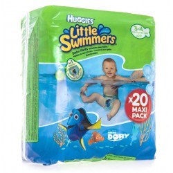 Bañadores desechables  Huggies® Little Swimmers®  Talla 3/4 (7-15 kg)  20 Uds