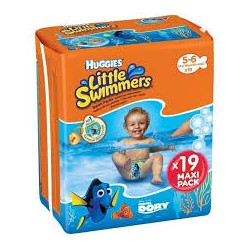 Bañadores desechables  Huggies® Little Swimmers® Talla 5/6 (12-18 kg) 19 Uds
