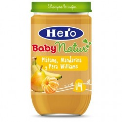 TARRITO BABYNATUR PLÁTANO, MANDARINA Y PERA WILLIAMS 1X235gr HERO