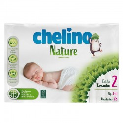 Pañales Chelino Nature T2 (3-6 kg) 28 Uds