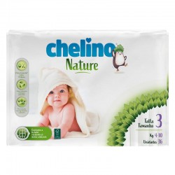 Pañales Chelino Nature T3 - (4-10 kg) - 36 unidades