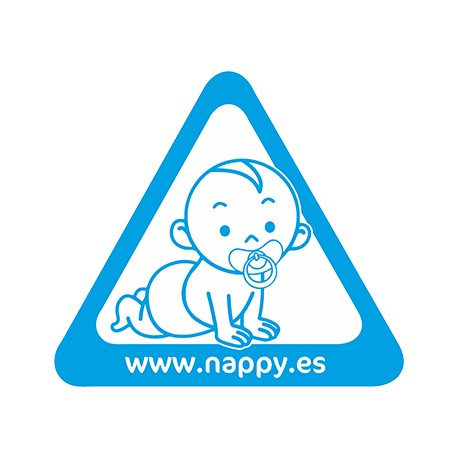 "PEGATINA ""NAPPY A BORDO"""