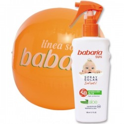 SPRAY SOLAR INFANTIL F-50 + BALON PLAYA (150 ml.) BABARIA