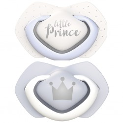 PACK CHUPETES DE SILICONA ROYAL BABIES LITTLE PRINCE 0-6M CANPOL