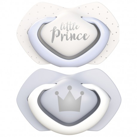 PACK CHUPETES DE SILICONA ROYAL BABIES LITTLE PRINCE 6-18M CANPOL