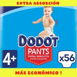 Pañales 56 uds. Dodot Pants Extra T4 ( 9 a 15 Kg )