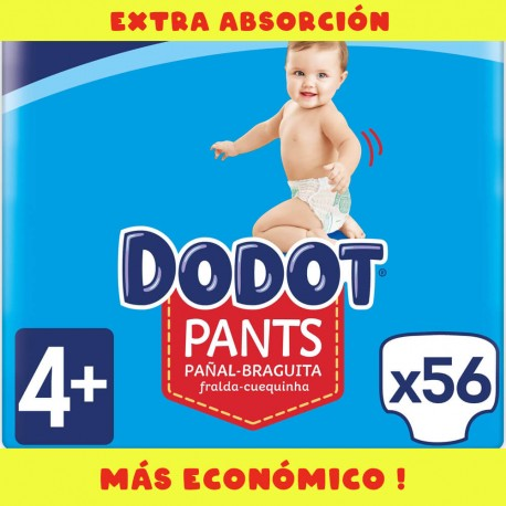 Pañales Dodot Pants Extra T4 (9 a 15 Kg)  56 uds