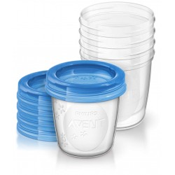 SET DE 5 RECIPIENTES PARA LECHE MATERNA 180 ML PHILIPS AVENT
