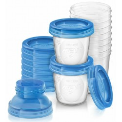 SET DE 20 RECIPIENTES PARA LECHE MATERNA 180 ML PHILIPS AVENT
