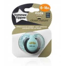 CHUPETE SILICONA CLOSER TO NATURE MODA NIÑO 6-18M TOMMEE TIPPEE