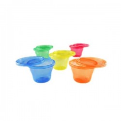 PACK DE 6 VASOS CON TAPA WASH OR TOSS™ 120 ML +3M NUBY