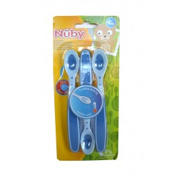 CUCHARITA DE SEGURIDAD HOT SAFE™ AZUL+4M  NUBY