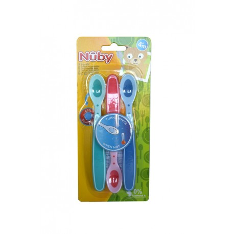 CUCHARITA DE SEGURIDAD HOT SAFE™ AQUA +4M  NUBY