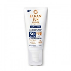 FLUIDO SOLAR CARA Y ESCOTE SENSITIVE F50+ 50 ML ECRAN