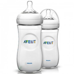 PACK 2 BIBERONES NATURAL 330 ML 3M+ PHILIPS AVENT
