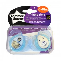 Chupetes 6-18m Toppee Tippee Night Time x2 V.2