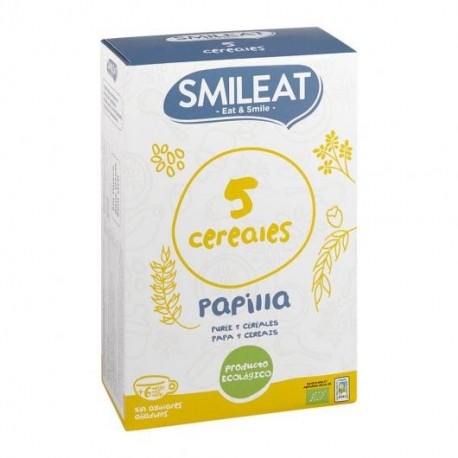 Papilla 5 cereales ECO Smileat