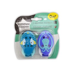 2x SUJETACHUPETES TOMMEE TIPPEE CLOSER NATURE- FISH